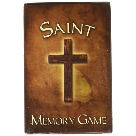 Adult Kid Sunday School Church Catholic Saint Pair Matching Fun Memory Card Game, Size : 2 1/4 x 3 7/8