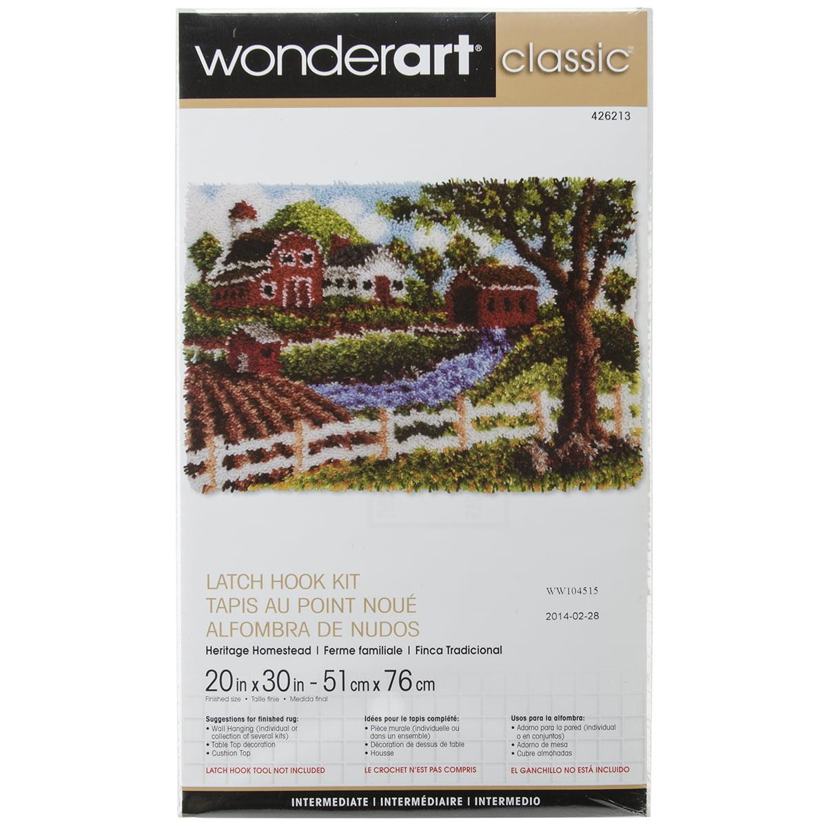 "Wonderart Classic Latch Hook Kit, 20"" x 30"", Heritage Homestead"