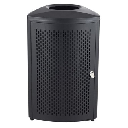 Safco Nook 13 Gallon Indoor Waste Receptacle in Black - image 1 of 1