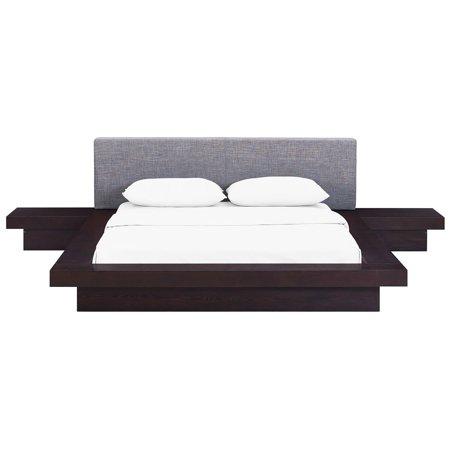 Modway Freja 3-Piece Queen Upholstered Bedroom Set, Multiple Colors