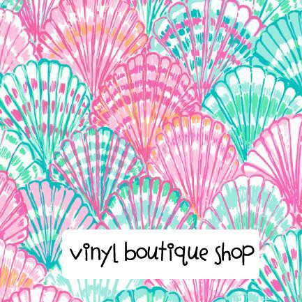 Soft Shells Lilly Inspired Printed Patterned Craft Vinyl