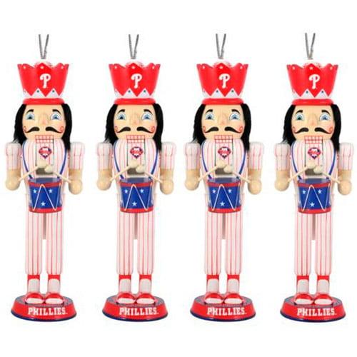 Philadelphia Phillies 2012 Nutcracker 4 Pack Ornament Set