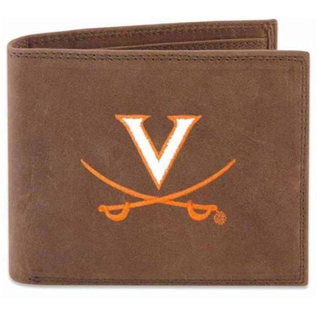 ZeppelinProducts UVA-IWE1-CRZH-LBR Virginia Passcase Embroidered Leather Wallet - image 1 de 1