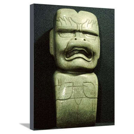 Jade ceremonial adze in the form of a jaguar spirit, Olmec, Tabasco, Mexico, 1200-400 BC Stretched Canvas Print Wall Art By Werner Forman