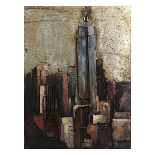 Empire Art Direct ''The Empire State Building'' Mixed Media Iron Hand Painted Dimensional Wall D cor