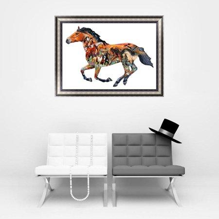 Fancyy Horse Pattern 5d Diamond Painting Diy Embroidery Cross Sch Home Decor 563 Image