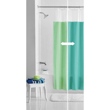 Mainstays Blue/Green Reversible PEVA Shower Curtain