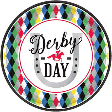 Kentucky Derby 'Derby Day' Large Paper Plates (8ct) - Kentucky Derby Party Decorations