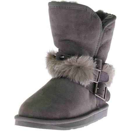 baae5fc47e061 Australia Luxe - Womens Hatchet Short Sheepskin Strappy Mid-Calf Boots -  Walmart.com
