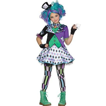 Mad Hatter Girls Wacky Alice In Wonderland Punk Halloween - Halloween In Wonderland