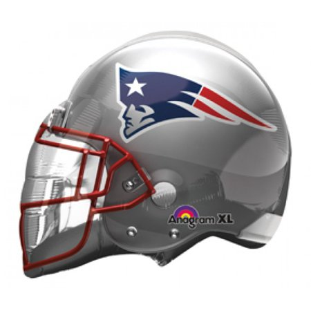 New England Patriots Helmet Nfl Super Bowl 24In Foil Balloon Football Party