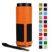Fintie Protective Case for Amazon Echo (1st Generation) - Premium Vegan Leather Cover Sleeve, Orange