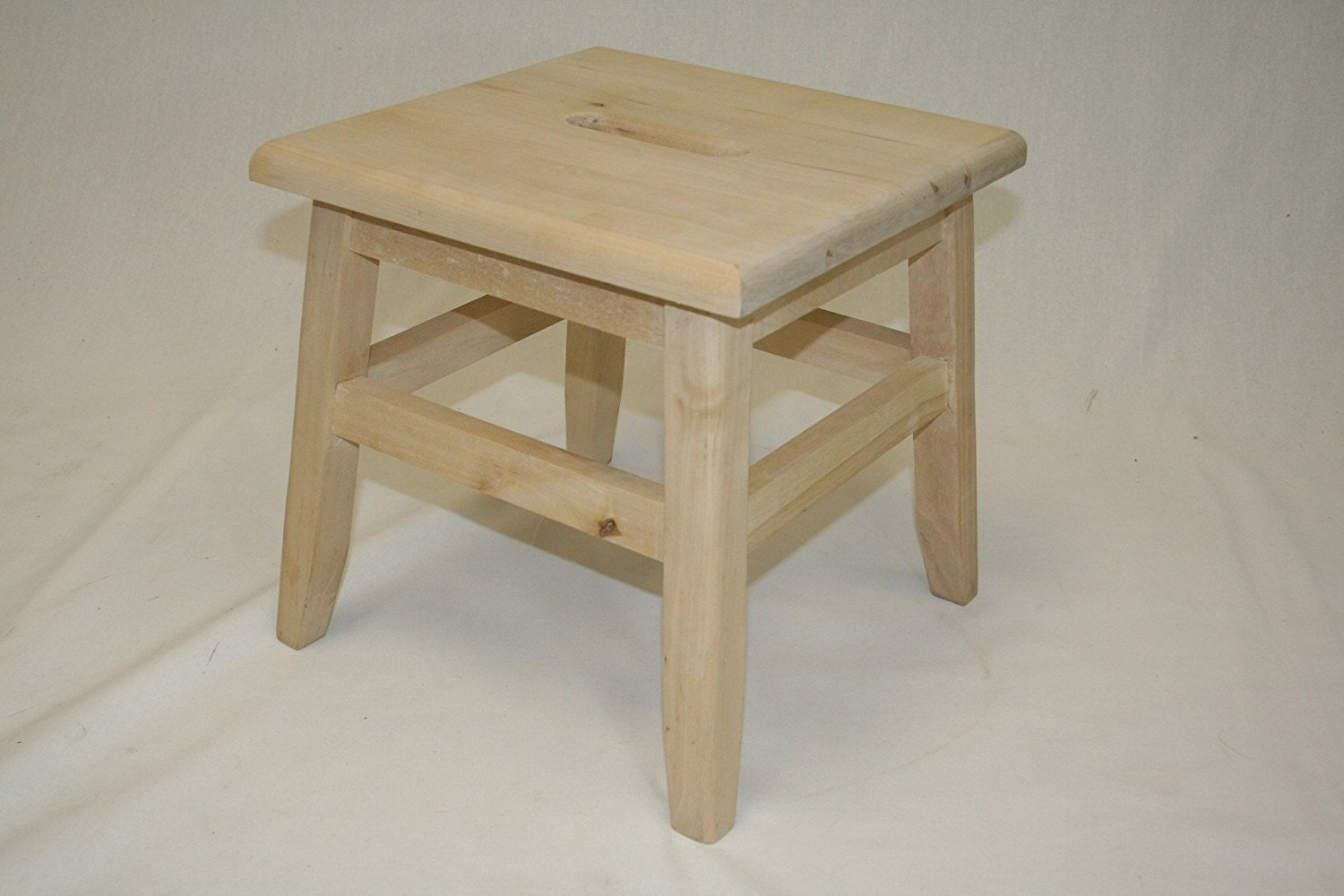 """12"""" Hardwood Footstool Unfinished, 1PC by"""