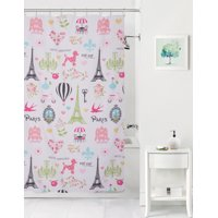 Mainstays Kids I love Paris Fabric Coordinating Shower Curtain