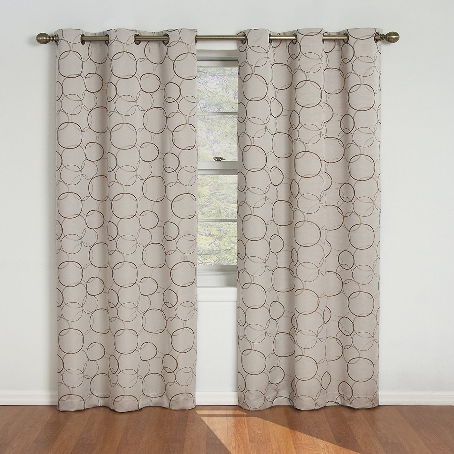 eclipse meridian blackout window curtain panel 42 63inch linen ship from - 63 Inch Curtains