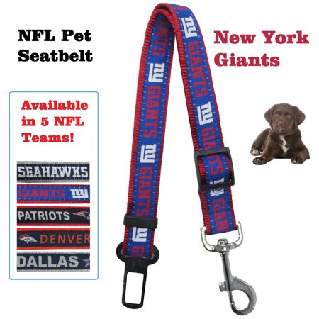 Pets First NFL New York Giants Pet Seat Belt Restraint