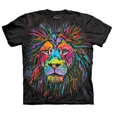 Black 100% Cotton Mane Lion Animal Design Novelty T-Shirt for $<!---->
