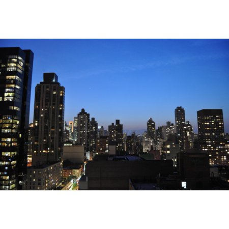 Canvas Print New York Skyline NYC Street City New York Night Stretched Canvas 10 x 14](Party City 14 Street Nyc)