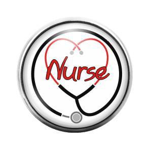 Nurse- 18MM Glass Dome Candy Snap Charm GD0058