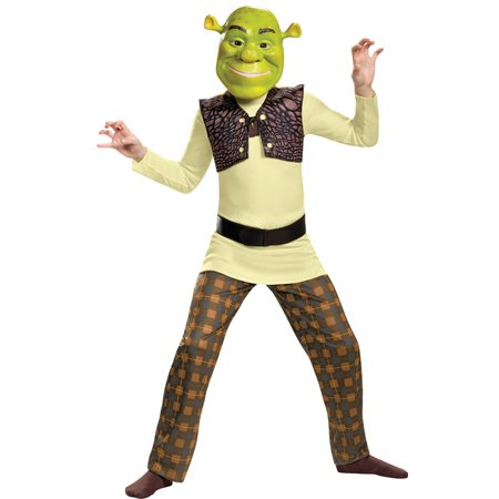 Morris Costumes Boys New Long Sleeve Shrek Classic Child Costume 4-6, Style DG86340L