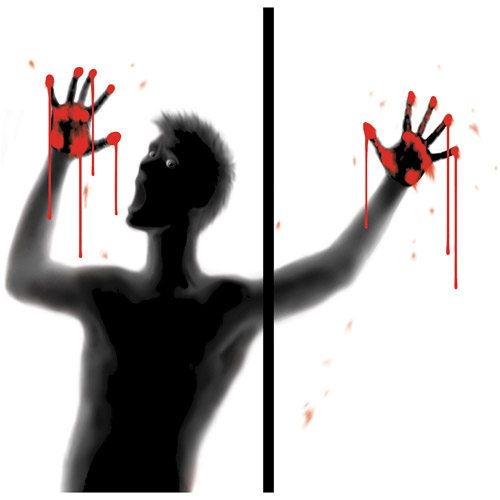 Bloody Screamer Window Wowindows Poster Translucent Cling Halloween Silhouette