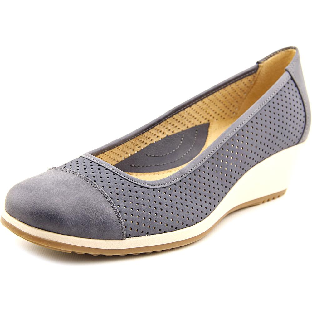 Naturalizer Bartow Women Open Toe Synthetic Blue Wedge Heel by Naturalizer