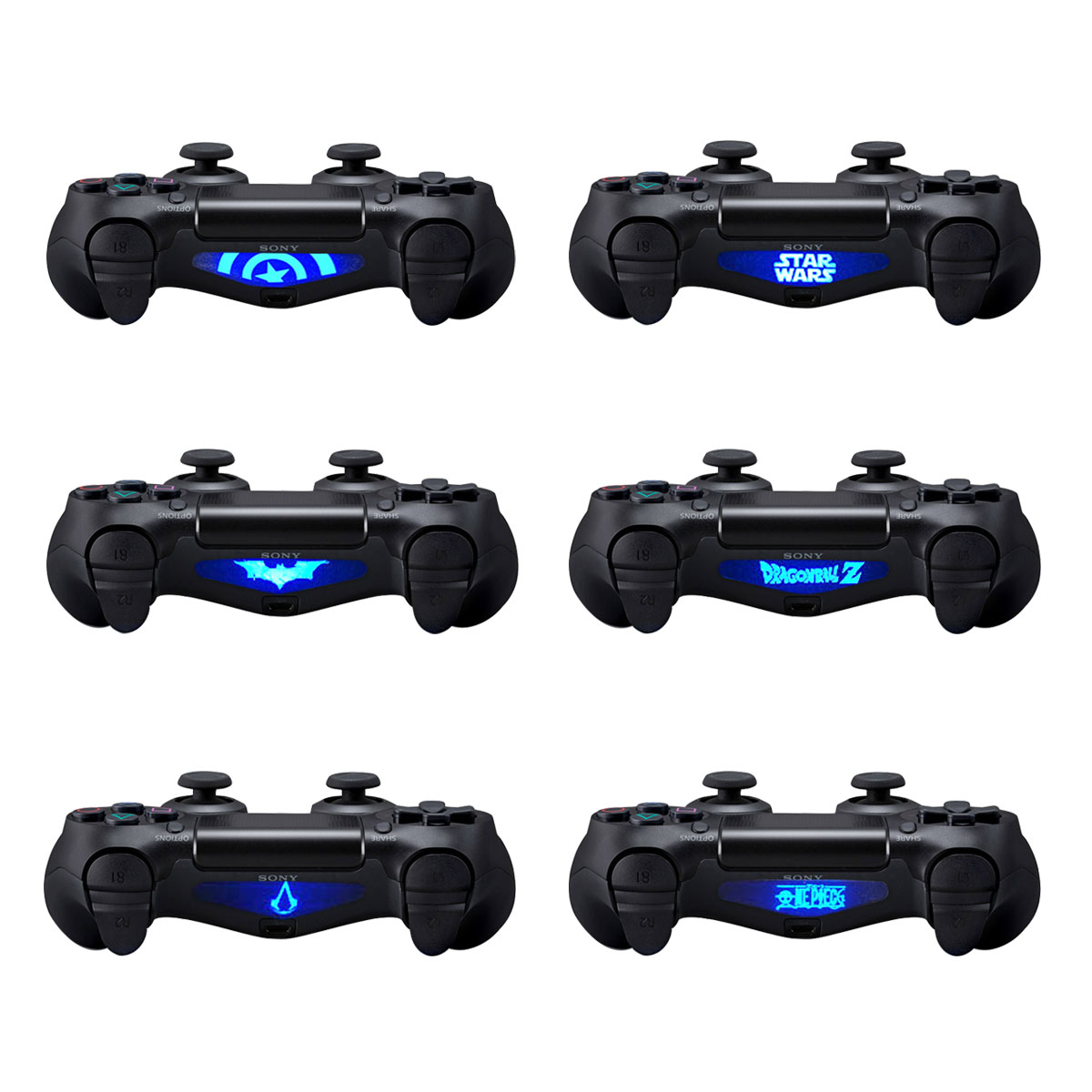 Skins for PS4 Controller - Decals for Playstation 4 Games - Stickers Cover  for PS4 Slim Sony Play Station Four Controllers Pro PS4 Accessories PS4
