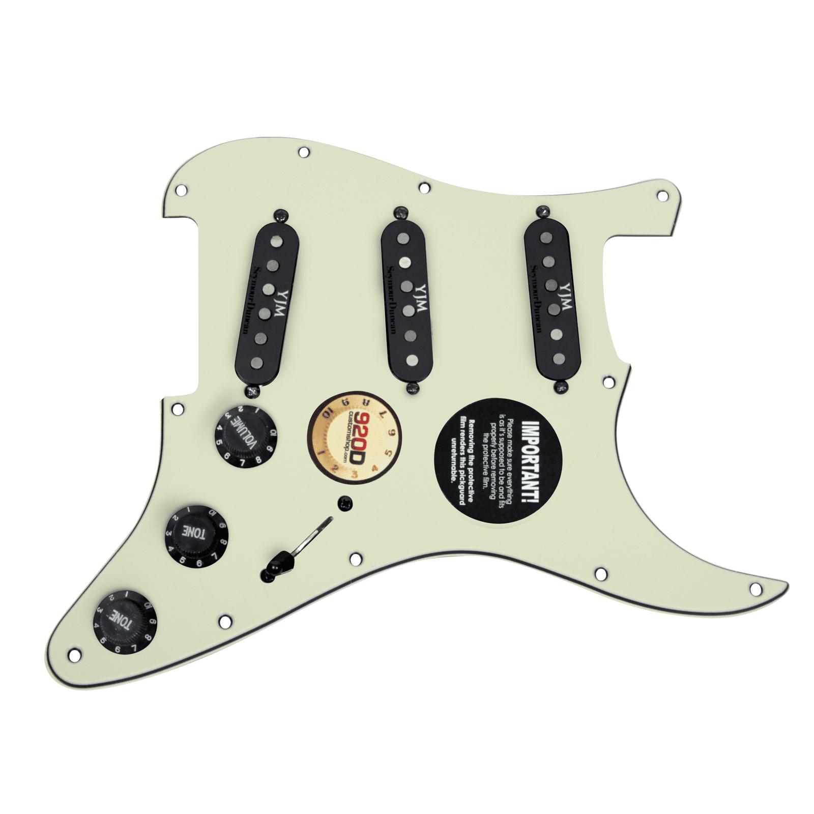 920D Fender Strat Loaded Pickguard Duncan Yngwie Malmsteen YJM Fury USA MG BK by