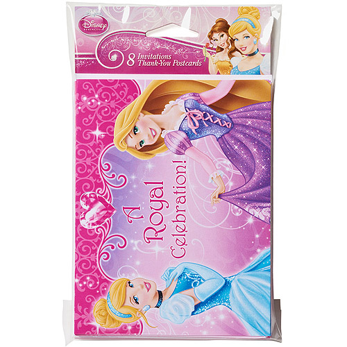 Disney Princess Invite and Thank You Combo 8 Pack Party Supplies