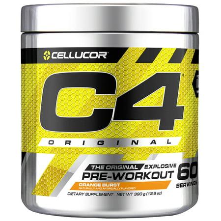 Cellucor C4 Original Pre Workout Powder, Orange Burst, 60 Servings -  Walmart.com 9b4290358b