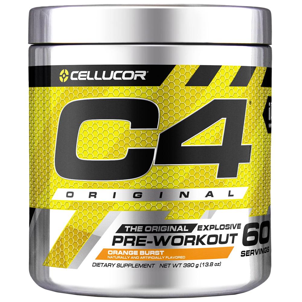 Cellucor C4 Original Pre Workout Powder, Orange Burst, 60 Servings