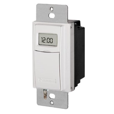 Intermatic ST01 7 Day Programmile In Wall Digital Timer Switch for Lights and Appliances, Astronomic, Self Adjusting, Heavy Duty