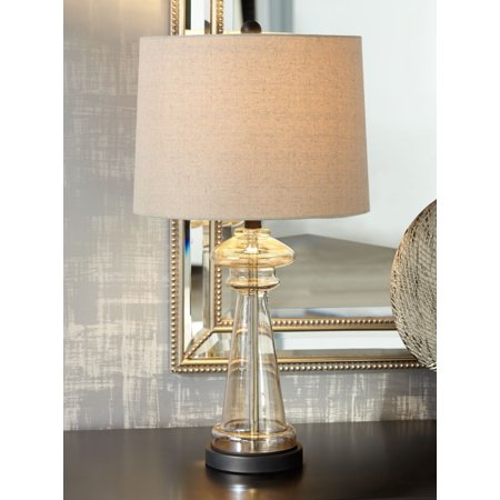 360 Lighting Modern Table Lamp Clear Champagne Gold Glass ...