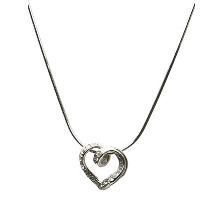 Heart Slide Pendant (Sterling Silver Heart Slide Pendant 8-Sided Diamond-Cut Snake Chain Necklace Italy 16 Inch )