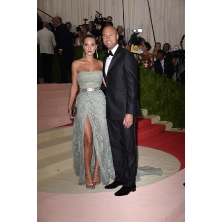 Hannah Davis Derek Jeter At Arrivals For Manus X Machina Fashion In An Age Of Technology Opening Night Costume Institute Annual Gala - Part 3 Metropolitan Museum Of Art New York Ny May 2 2016 Photo By Derek Jeter Autographed Photo
