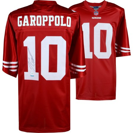 online store 39f0c a50b6 Jimmy Garoppolo San Francisco 49ers Autographed Red NFL Pro-Line Jersey -  Fanatics Authentic Certified - Walmart.com