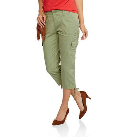 Unique Faded Glory  Women39s Linen Cargo Bermuda Shorts Women  Walmartcom