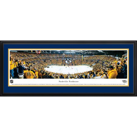 Nashville Predators Playoff Victory Blakeway Panoramas NHL Print with Deluxe Frame and Double Mat by