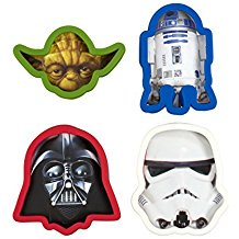 Star Wars Cookie Cutter, Darth Vader, Yoda, Storm Trooper, R2D2 (Set of - Star Wars Baking