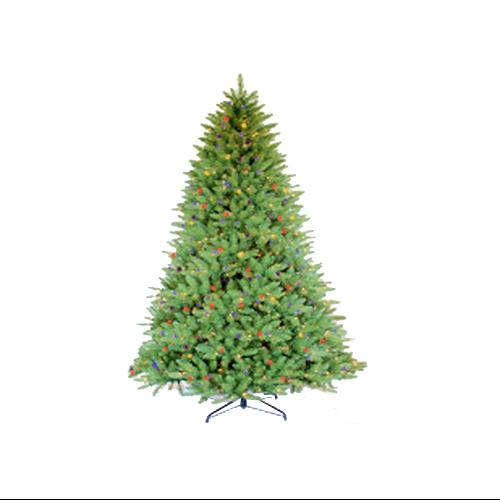 7.5' Pre-Lit Glacier Fir Artificial Christmas Tree - Multi Lights