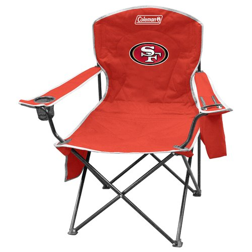 Coleman Quad Chair with 4- to 6-Can Cooler, San Francisco 49ers