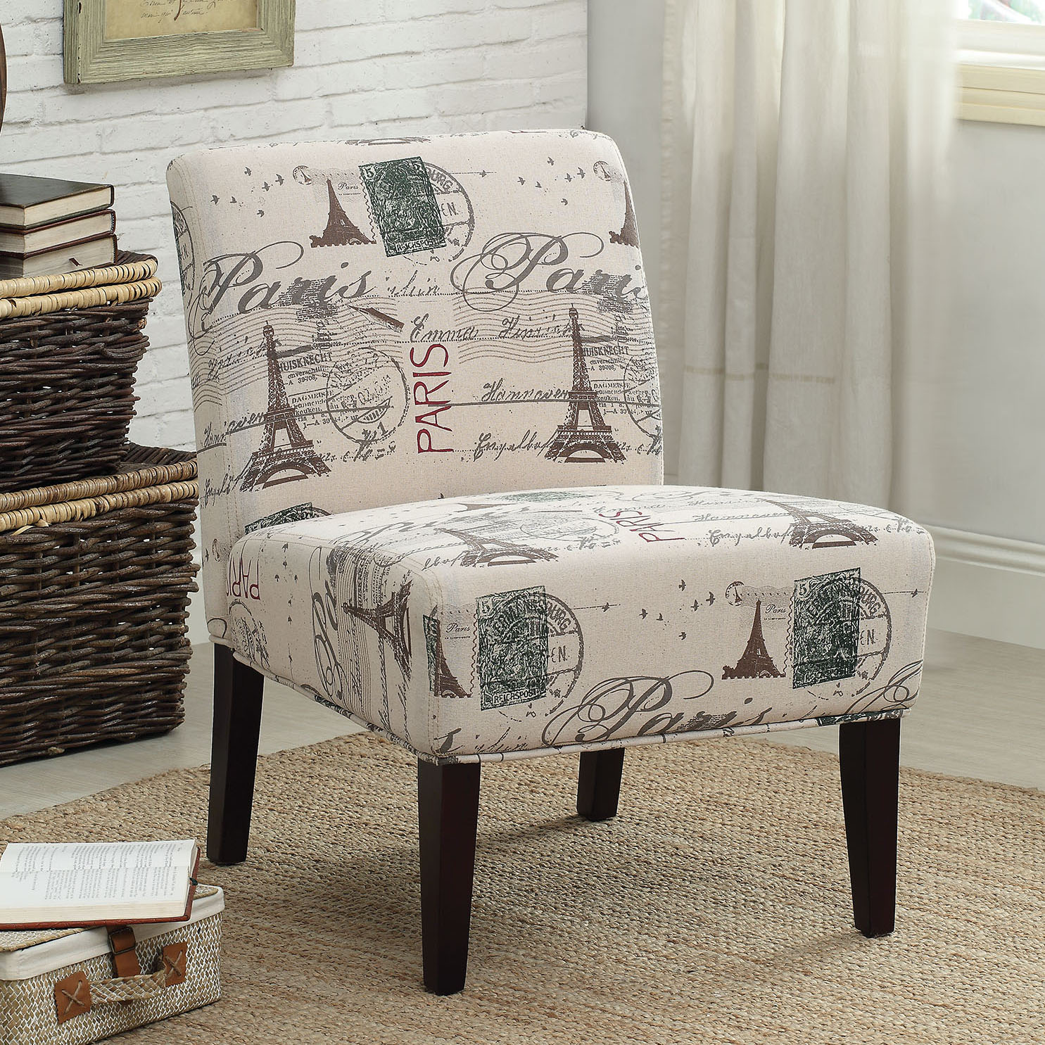 Bon Paris Eiffel Tower Accent Chair Home Office Furniture Decor Armless Lovely  Seat