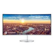 """SAMSUNG 34"""" Class Widescreen WQHD PLS Panel (3440 x 1440) Curved Monitor - LC34J791WTNX/ZA"""