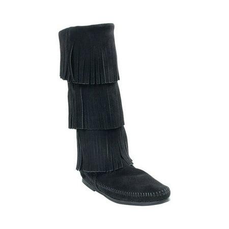 Women's Minnetonka 3 Layer Fringe Boot ()