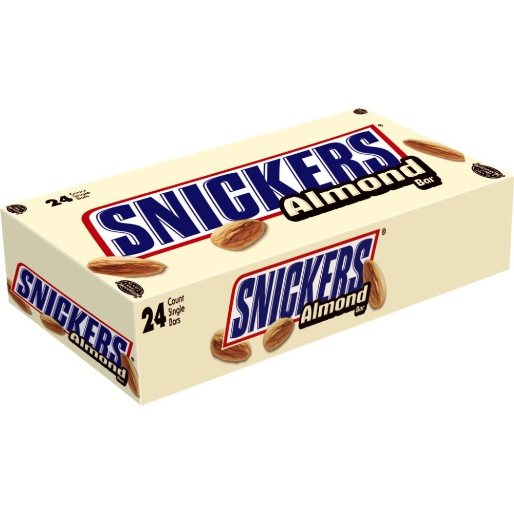 Snickers, Almond Milk Chocolate Candy Bars, 1.76 Oz, 24 Ct