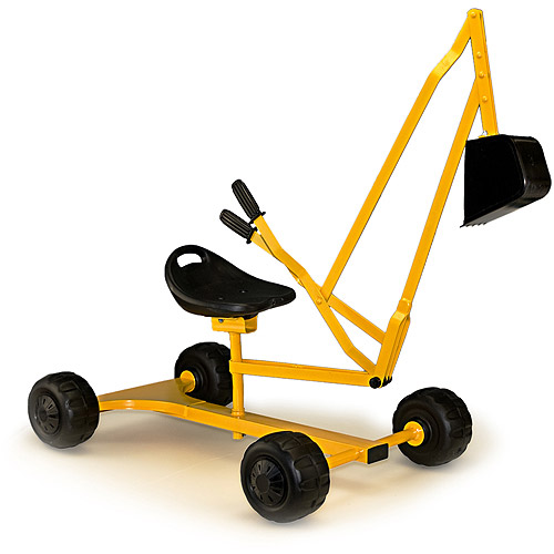 WonkaWoo Metal Dig and Swivel Sand Digger, Yellow