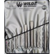 Wilde Tool K 8.Np/Vr 8-Piece Punch & Chisel Set Natural Finish-Vinyl Roll