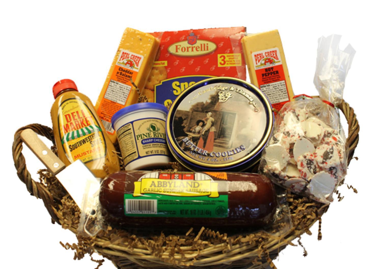 10-Piece Picnic Party Gourmet Summer Sausage and Cheese Gift Basket-Medium - Walmart.com