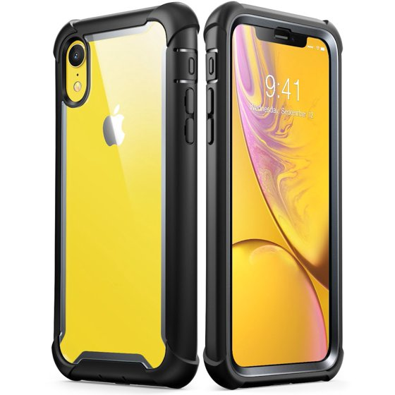 low priced 6b5a0 79777 iPhone XR Case, i-Blason [Ares] Full-Body Rugged Clear Bumper Case with  Built-in Screen Protector for Apple iPhone XR 6.1 Inch (2018 Release)(Black)