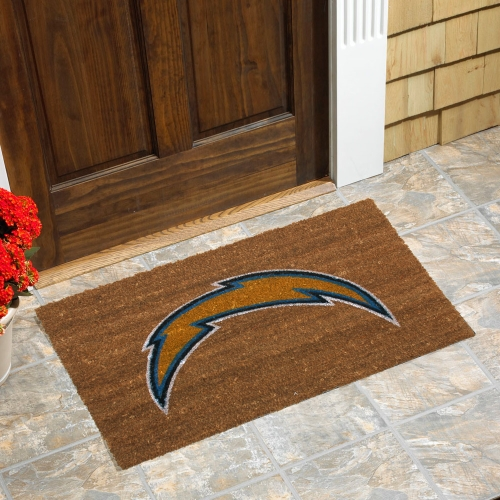 Los Angeles Chargers Logo Coir Door Mat - No Size